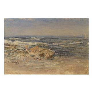 The Atlantic Surf, 1899 (oil on canvas) Wood Print