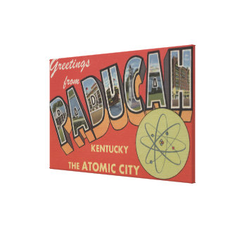 The Atomic City - Large Letter Scenes Canvas Print