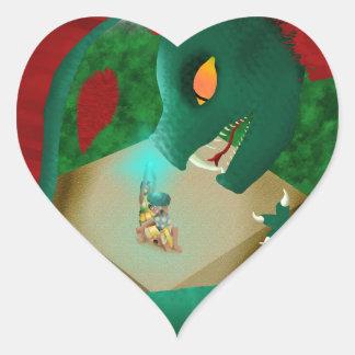 The Attack Heart Sticker