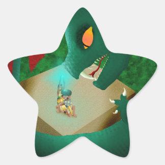 The Attack Star Sticker
