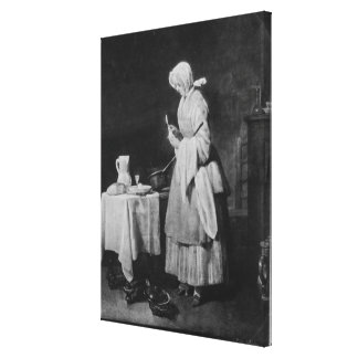 The Attentive Nurse, c.1738 Canvas Print