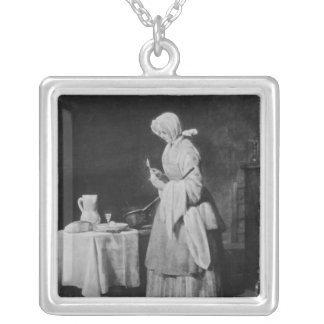 The Attentive Nurse, c.1738 Silver Plated Necklace