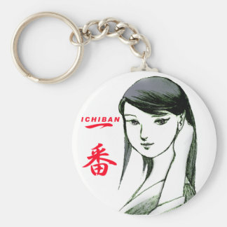 The attractive woman ICHIBAN of Japan Basic Round Button Key Ring