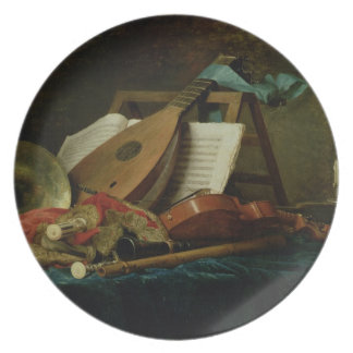 The Attributes of Music, 1770 (oil on canvas) Party Plate