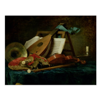 The Attributes of Music, 1770 (oil on canvas) Postcard