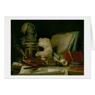 The Attributes of the Arts, 1769 (oil on canvas) Greeting Card
