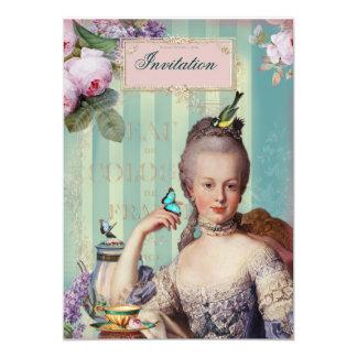 Thé au Petit Trianon 13 Cm X 18 Cm Invitation Card