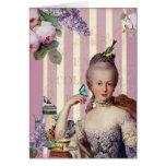 Thé au Petit Trianon – rose Greeting Cards