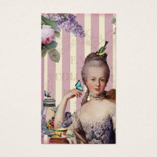 Thé au Petit Trianon – rose on gold calling card