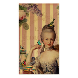 Thé au Petit Trianon – rose on gold calling card Pack Of Standard Business Cards