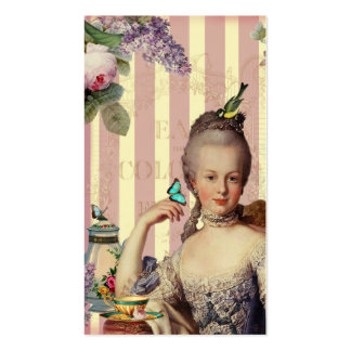 Thé au Petit Trianon – rose on ivory Pack Of Standard Business Cards