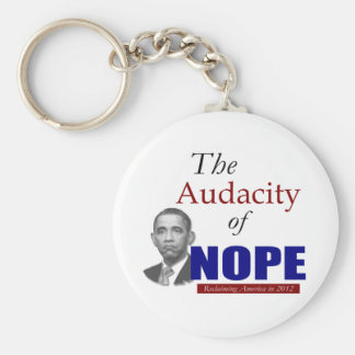 The Audacity of NOPE! Basic Round Button Key Ring