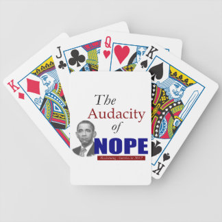 The Audacity of NOPE! Bicycle Poker Cards