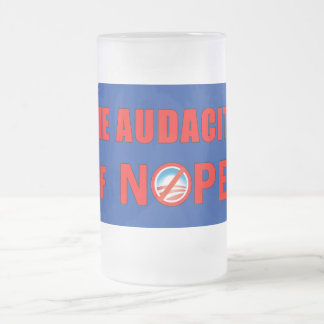 The Audacity of NOPE Frosted Glass Mug