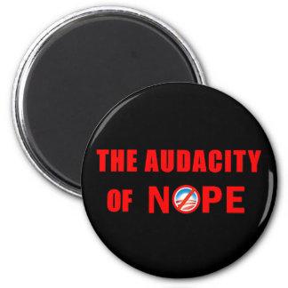 The Audacity of NOPE 6 Cm Round Magnet