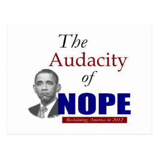 The Audacity of NOPE! Postcard