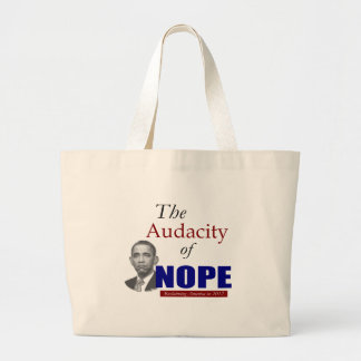 The Audacity of NOPE! Jumbo Tote Bag