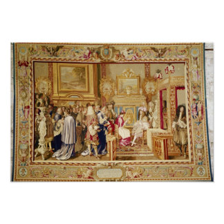 The Audience of Cardinal Chigi with Louis XIV Poster
