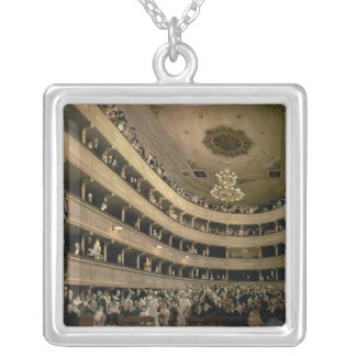 The Auditorium of the Old Castle Theatre, 1888 Silver Plated Necklace