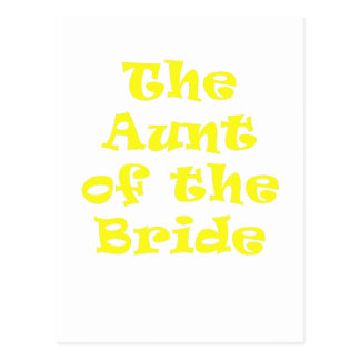 The Aunt of the Bride Postcard