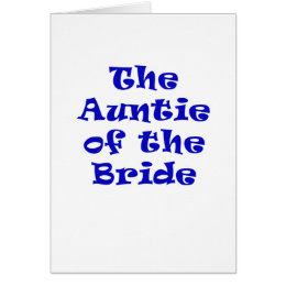 Auntie of the Bride