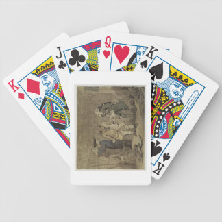 The Author and his Publisher, 1784 (grey wash and Bicycle Playing Cards