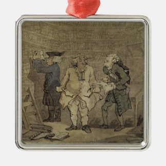 The Author and his Publisher, 1784 (grey wash and Christmas Ornament