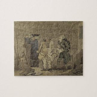The Author and his Publisher, 1784 (grey wash and Jigsaw Puzzle