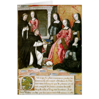 The Author Offering his Book to Anne of Card