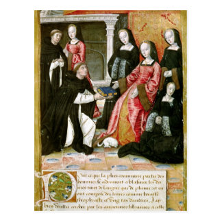 The Author Offering his Book to Anne of Postcard