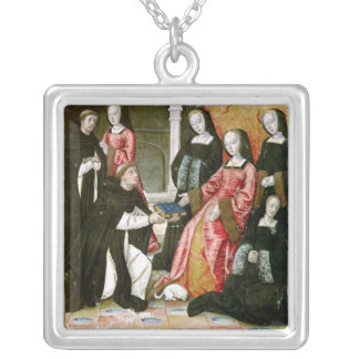 The Author Offering his Book to Anne of Silver Plated Necklace