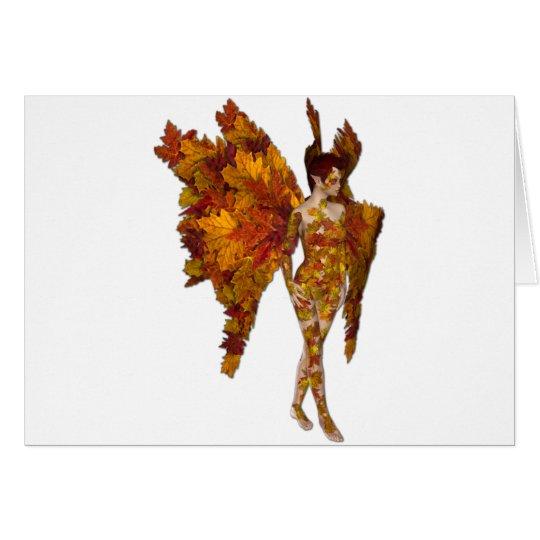 The Autumn Fae Fairy Card