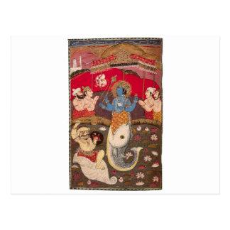 The Avatars of Vishnu Postcard