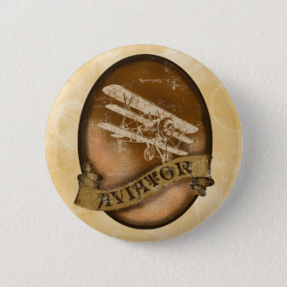 The Aviator 6 Cm Round Badge