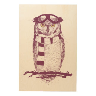 The aviator wood print