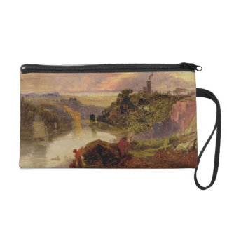 The Avon Gorge at Sunset (oil on paper) Wristlet