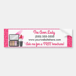 The Avon Lady, Pink Leopard Cosmetics Bumper Sticker