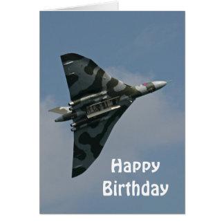 The Avro Vulcan Happy Birthday Greeting Card