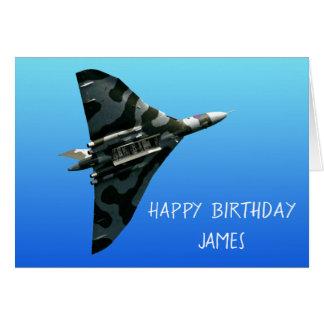 The Avro Vulcan Happy Birthday personalised Card