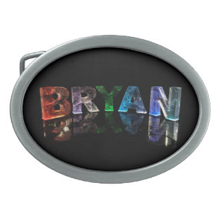 The  Awesome Name Bryan in 3D Lights Belt Buckles
