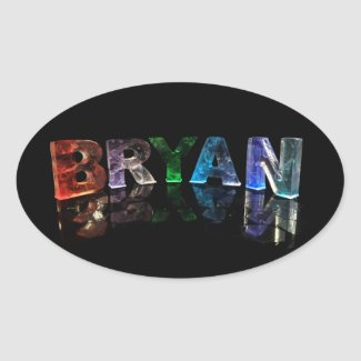 The Awesome Name Bryan in 3D Lights Stickers