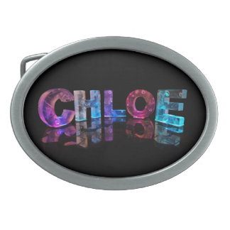 The  Awesome Name Chloe in 3D Lights Belt Buckles