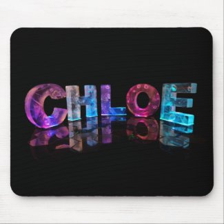 The Awesome Name Chloe in 3D Lights Mousemat
