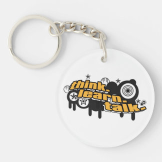 The Awesome Think Keychain Round Acrylic Keychains