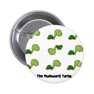 The Awkward Turtle 6 Cm Round Badge