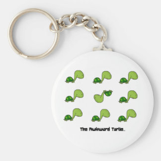 The Awkward Turtle Basic Round Button Key Ring