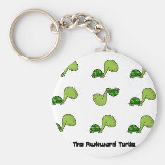 The Awkward Turtle Basic Round Button Key Ring