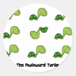 The Awkward Turtle Classic Round Sticker