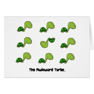 The Awkward Turtle Greeting Card