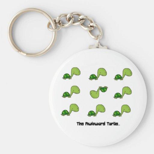 The Awkward Turtle Key Chain